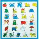 CHILDRENS ALPHABET HANDKERCHIEFS